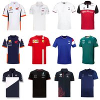 F1 Formula One racing suit car team logo factory uniform POLO short-sleeved T-shirt men can be customized 2021