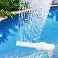 Watering Equipments Pool Waterfall Fountain Pipe Water Spray Spa Garden Nozzles Sprinklers Adjustable Swimming Accessories