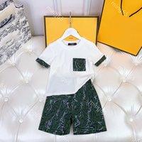 عارضة مصممين ملابس الاطفال قصيرة الأكمام مجموعات القطن إلكتروني مطبوعة الطفل الملبس أزياء بوي الصيف 2021 السراويل بدلة قطعتين