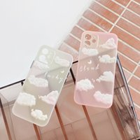Colorful Clouds for iPhone Cases Built-in Pink Rubber Bumper Anti-Scratch Clear Phone Cover Skin Fashion Style 12 Pro Max Case