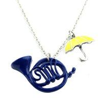 2021 designer fashion accessories Alice in Wonderland trumpet umbrella Pendant Necklace Jewelry