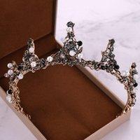 Hair Clips & Barrettes Vintage Crystal Baroque Crown Tiaras Queen Rhinestone Bridal Accessories Bride Headbands Wedding Jewelry