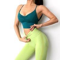 Nylon Sey Sports Bra Gym Women Yoga Bralette Tops Crop Active Running Athletic Walking Pad Wear Top Underwear