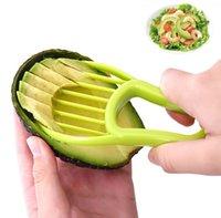 3-in-1 Avocado Slicer Shea Corer Butter-Obst Peeler Cutter Pulp Separator Kunststoffmesser Küche Gemüsewerkzeuge Home Zubehör
