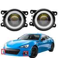 fog light with for Subaru BRZ 2013-2018 2 Pieces Fog-Lights LED DRL high quality Angel Eye 12v H11
