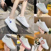 Lüks Tasarımcılar Kadınlar Zaman Çıkış Sneaker Düşük Gündelik Ayakkabılar Beyaz Buzağı Deri Kauçuk Dış Tedavi Baskılı Eğitmenler Boyutu 35-40xolm #