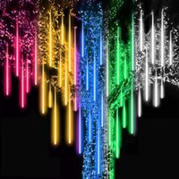 30cm x8 Tubes 144pcs LED Christmas Tree Dropping Meteor Shower Rain Lights Outdoor Waterproof for Holiday Party Wedding Decoration New Year Garden Patio
