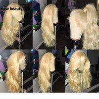 عالية الجودة محاكاة الإنسان الشعر 613 الباروكات البرازيلي الجسم موجة الدانتيل الدانتيل الطبيعي الجبهة الباروكة شقراء اللون الاصطناعية الدانتيل الباروكة للنساء البيض