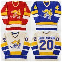 211Vintage 1970-76 20 Jack Carlson Mike Walton 4 Ray McKay Minnesota Sabah Saints Hokey Jersey Herhangi bir oyuncuyu veya ismi özelleştirin