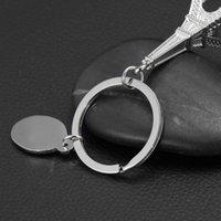 الحلي الطباعة المعدنية ستيريو باريس برج إيفل محاكاة المفاتيح سبائك الزنك قلادة هدية دفعة