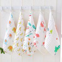 Baby Towels 100% Cotton Gauze Newborn Burp Cloths Muslin Babys Face Towel kid Bath Wrap Infant Boys Girls Washcloth 17 Designs 10pcs
