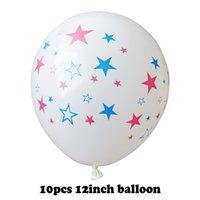 EE. UU. Día de la Independencia Decoración Globos 10 unids / lote Fondo Fondo Combinación Balloon Suministros de vacaciones Suministros de vacaciones 12 pulgadas CCF6061