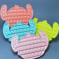 Party Favor Stress Reliever Pop Fidget Toy Cute Push Bubble Squeeze Sensory Toys DHL Fast Ship