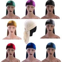 Women Men Turban Hat Chemo Headgear Headwear Muslim Headscarf Cap Cycling Caps & Masks