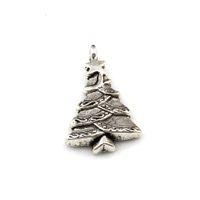 100pcs Pendentifs de charme d'arbre d'arbre d'arbre d'arbre de Noël d'argent antique pour bijoux Collier Bracelet Collier DIY Constatations 17.8x29mm A-641