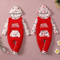 Clothing Sets Born Baby Boy Girl Clothes Christmas Long Sleeve Hooded Romper Autumn Winter Wear 0-24M Halloween Jumpsuit