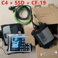 Yeni MB Yıldız C4 Araba Teşhis Tanı Laptop ile CF19 Çalışmaya Hazır HDD / SSD MB Araba Teşhis Aracı C4 SD Connect Vediamo DTS