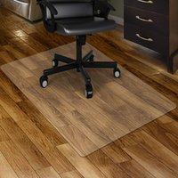 """Mitofox US на акции ПВХ ясный коврик для стула, на жестком использовании, 48 """"x 36"""" прямоугольный прозрачный офис домашнего этажа дерево / плитка защиты коврика крем простые чистые"""