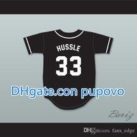 بالجملةخصم رخيصة nipsey hussle 33 crenshaw الأسود البيسبول الفانيلة رجل مخيط جيرسي قميص حجم S-XXXL