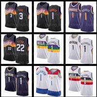 "Williamson Jersey 농구 새로운 Devin 1 인사 Chris 3 폴 시온 올리언즈 ""Pelicans""Phoenix ""Suns""남성 Deandre 22 Ayton Jerseys Steve Charles Nash Barkley"