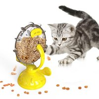 Cat Toys Interactive Dog Slow Food Funnel Windmill Turntable Feeder Healthy Eating And Weight Loss Bowl