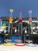 Hot Sales Big Bongs ,18 Inches Yellow Red Color Rig Bong New Product Smoking Glass Water Pipewith 19mm Bowl Free Ship
