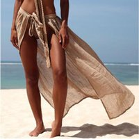 Casual Beach Sun Protection Clothing Sexy Seaside Vacation Strappy Skirt Women's Swimwear