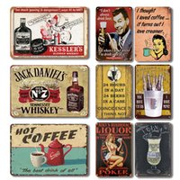 Nostalgique Whisky Bar Bar Métal Tin Enseigne Vintage Chaude Toile Plaque Personnalité Personnalité Cafe Bar Cuisine Décor Plaque Plateille murale