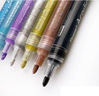 Akrylfärg Pennor Paintmarkers Set Vattenbaserad konstmarkör Pen Fine Tips för DIY Craft Canvas Keramisk Glas Trästen EEB6000