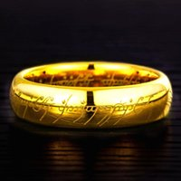 Wedding Rings 4 5 6 8MM Width Gold Tone Tungsten Carbide Big Ring For Man High Polished Dome Band Comfort Fit Size 4-14