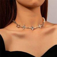 Korean Pearl Beaded Splice Choker Women Row Star Diamond Clavicle Chains For Business Dress Party Gift Necklaces Jewelry Accessories Wholesale