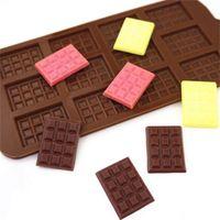 Molde de Silicone 12 Mesmo Molde de Chocolate Fondant Moldes DIY Candy Bar Bar Bolo Decoração Ferramentas de Cozinha Acessórios DHE6345