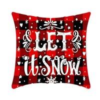 Pillow Case Santa Claus Christmas Tree Snowman Elk PillowCase Colorful PillowCover Home Sofa Car Decor Pillowcases GWD11118