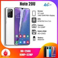Cep Telefonları Global Sürüm Android Note20U Smartphone 6.7-inç Çift SIM Kartları Cep Telefonu 3G 4G Hücre Akıllı Telefonlar Yüz Kilidini