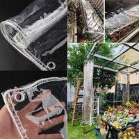 Тень 0.35 мм 99,9% прозрачный ПВХ брезентовый балкон водонепроницаемый ткань брезентовый садовый суккулентные растения крышка четкий дождь