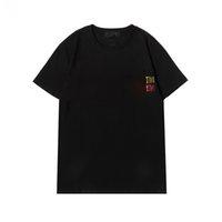T-shirt de cristal cristal de haute qualité Mens été 100% coton t-shirts de base Solide imprimé lettre Skateboard occasionnel punk manches courtes Haut shirts