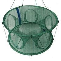 Fischkäfigfisch Net Shrimp Lobster Automatische Faltung mit Pole zum Anheben von Zubehör