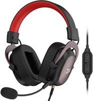 Redragon H510 ZEUS Auricolare cablato Auricolare 7.1 Surround Sound Sound Schiuma Auricolare Memoria con microfono rimovibile per PC / PS4 e Xbox One