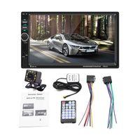 오디오 시스템 Apple Carplay Car DVD 멀티미디어 플레이어 - 더블 DIN 7 인치 용량 성 터치 스크린 블루투스