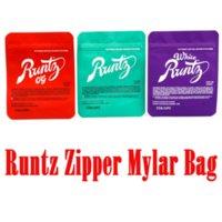 Runtz zipper mylar bag white runtz Retail 3.5g Zip Lock Childproof Smellproof Plastic Bag for Dry Herb Tobacco Flower California