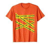 ОСТОРОЖНОСТЬ!! Графическая осторожная лента предупреждающая футболка