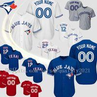 Personalizado Toronto Vladimir Guerrero Jr. Azul S-6XL Jersey Roberto Alomar Carter Randal Grichuk Smoak Royal Stroman Baseball Jerseys Jay