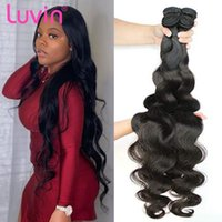 Human Hair Bulks Luvin 30 36 40 Inches Body Wave Bundles Brazilian Remy 9A Top Quality Weave Long Deals Wholesale