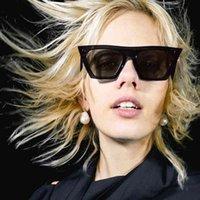 Luxo Designer Sunglasses Evrfelan Retro Quadrado Brand Desinger Cat Eye Sun Óculos Mulheres Eyewear Chic Big Frame para Oculos Uv400