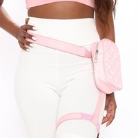 Waist Bags BQ Stylish Diamond Outdoor Hiking Motorcycle Biker Lover Trendy Women Drop Leg Belt Leather Fanny Pack Cool Girl Bag