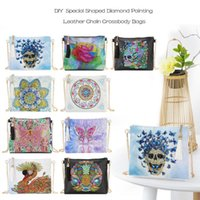 Storage Bags 5D DIY Diamond Painting Peafowl Butterfly Flower Leather Crossbody Chain Embroidery Bag Wallet Pouch For Women