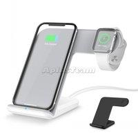 2 ila 1 Kablosuz Şarj Telefon Tutucu Standı Apple İzle 2 3 iPhone X XS Max XR 8 Artı IWatch Hızlı Şarj İstasyonu