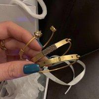 Trinity Armband für Frauen Mann Mode Kristall Armreif Schmuck Straße Armbänder Wowan Liebhaber Geschenk Armreifen Mit Kasten