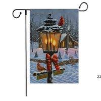 Nuevo patrón de la serie de la bandera de Navidad Patrón de Navidad Muñeco de nieve Garden banderas banderas 47 * 32 cm Fuentes de navidad Suministros HWE8670