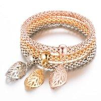 Charm Bracelets Braclet Leaf Bracelet Female Femme Gold Male Friendship Bangles For Couples Women Men Multilayer Charms
